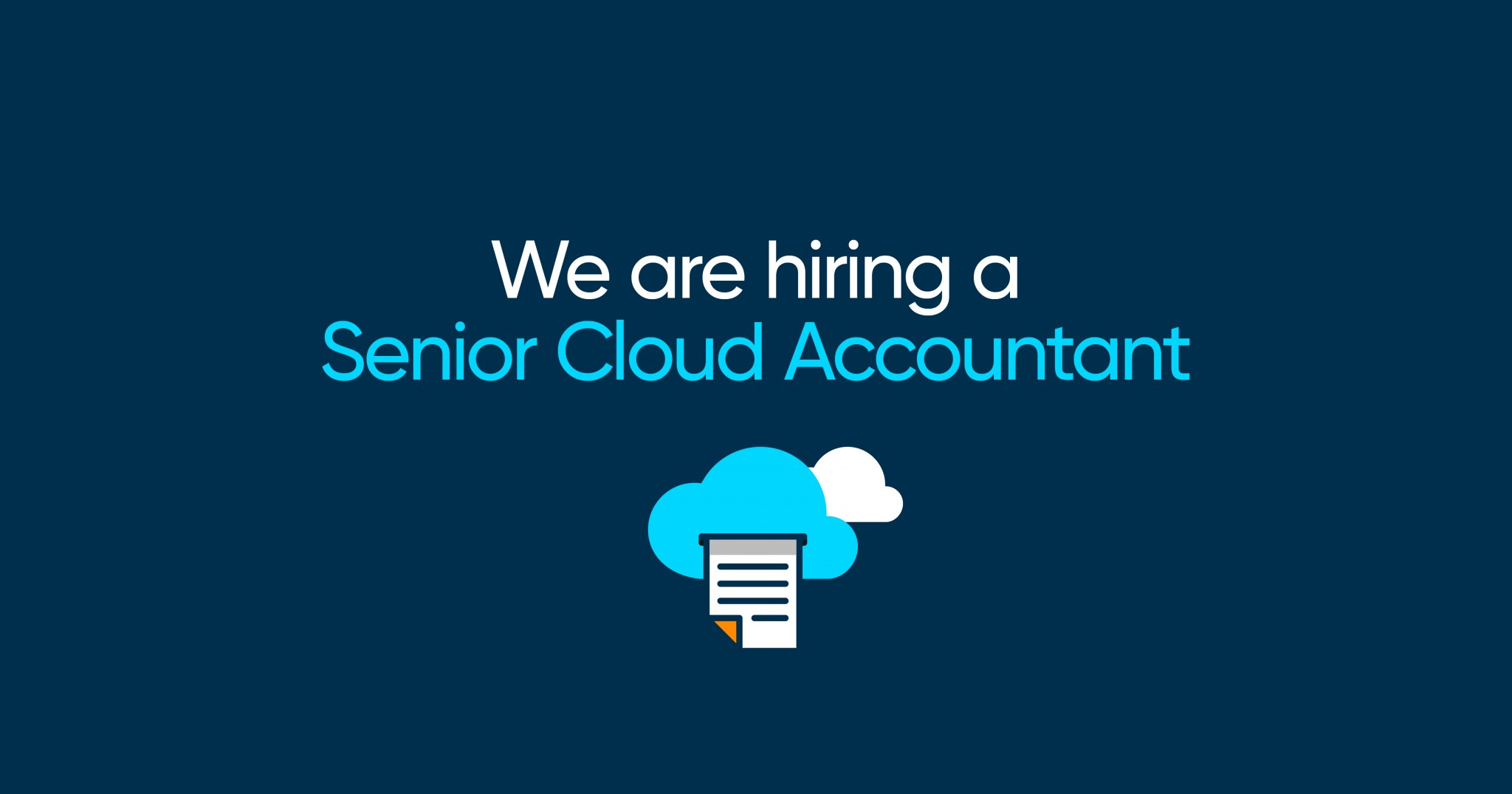 We're Hiring a Senior Cloud Accountant