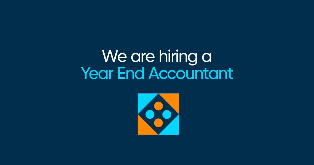 We're Hiring a Year End Accountant!
